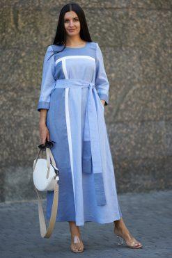 Linen Kaftan Maxi Dress