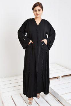 Pocket Abaya with Beads