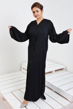 Simple Plain Black Abaya