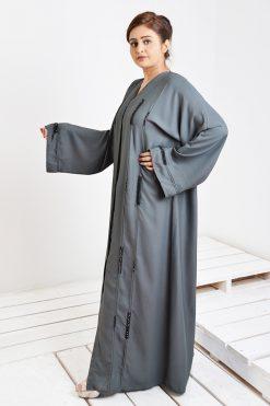 Grey Linen Abaya