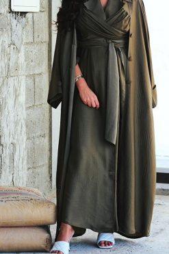 Plain Green Abaya