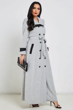 Light Grey Turkish Abaya
