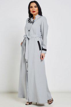 Grey Turkish Abaya