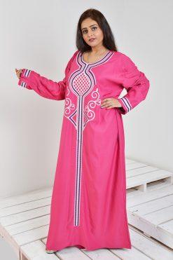 Fuchsia Jalabiya Dress