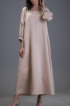 Beige Kaftan Dress