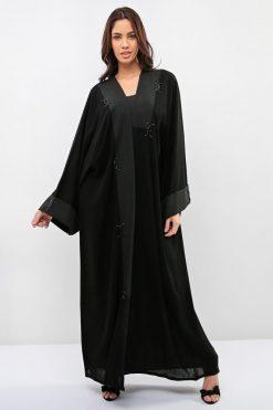 Black Abaya Embellished with Beads