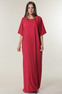 Red Maxi Slip Dress