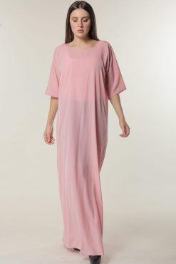 Pink Under Abaya Dress