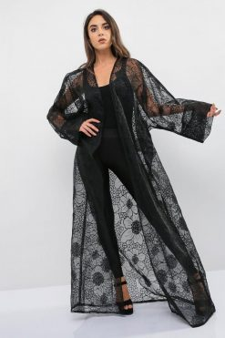 Sheer Embroidered Abaya