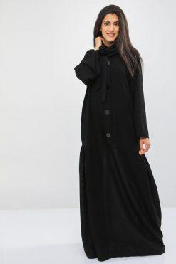 Button Embellished Abaya
