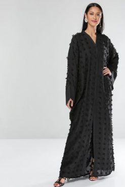 Black Texture Abaya