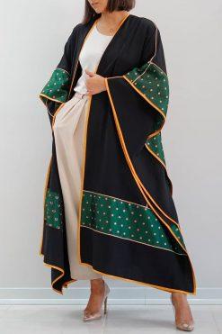 Black Cotton Abaya