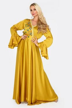 GOLDEN SUNSET Jalabiya Gold Dress