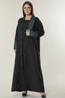 Black Abaya with  Net Lace