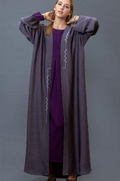 Grey Bisht Abaya