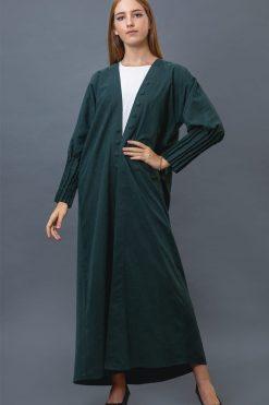 Green Color Abaya