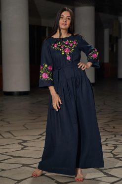 Blue Kaftan Maxi Dress