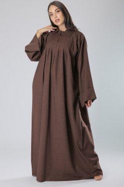 Brown Collar Abaya