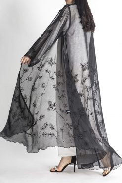 Black Sheer Abaya