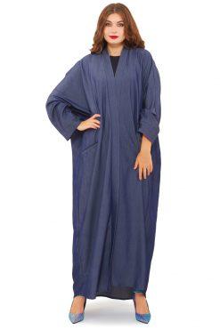 Denim Abaya Model