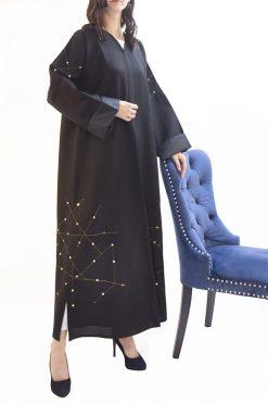 Sequin Open Abaya