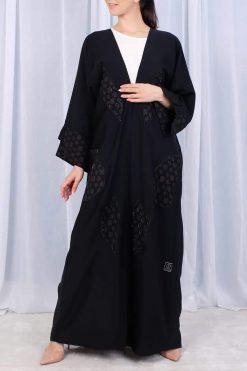 Geometric Abaya Dress