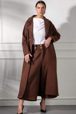 Brown Coat Matching Pants