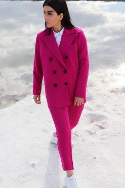 Fuchsia Pants Outfit