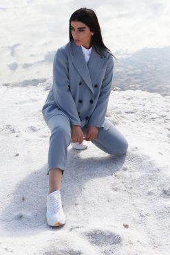 Grey Pantsuit For Women