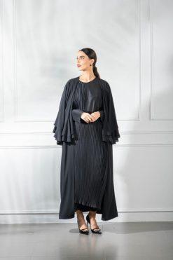 Ruffle Sleeve Abaya