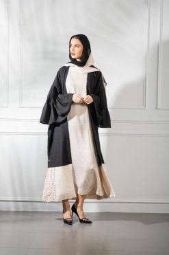 Beige And Black Abaya
