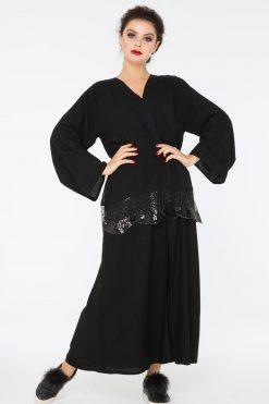 A new peplum style Abaya