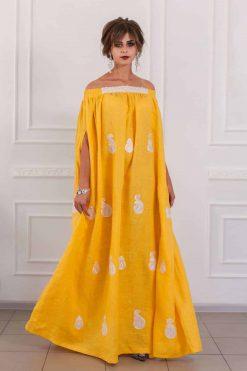 Yellow Kaftan Maxi Dress