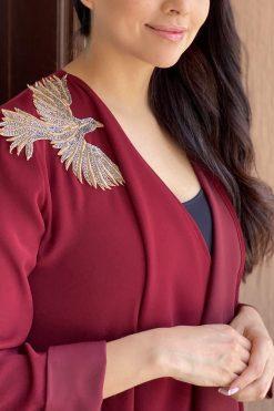 Red Abaya Bisht